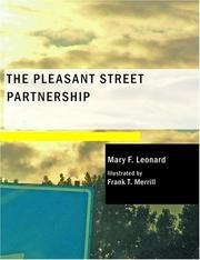 Cover of: The Pleasant Street Partnership (Large Print Edition) | Mary F. Leonard