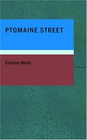 Cover of: Ptomaine Street: The Tale of Warble Petticoat