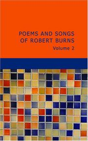 Cover of: Poems and Songs of Robert Burns Volume 2