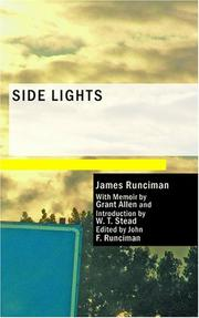 Cover of: Side Lights | James Runciman
