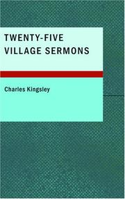 Cover of: Twenty-Five Village Sermons by Charles Kingsley