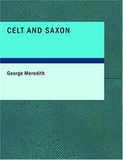 Cover of: Celt and Saxon