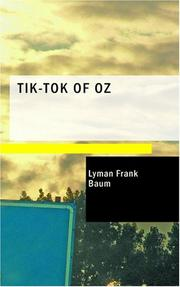 Cover of: Tik-Tok of Oz