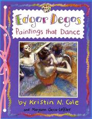 Cover of: Edgar Degas: paintings that dance