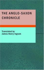 Cover of: The Anglo-Saxon Chronicle