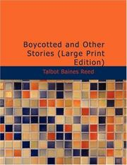 Cover of: Boycotted and Other Stories