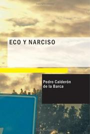 Cover of: Eco y Narciso: comedia famosa