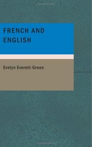 Cover of: French and English: A Story of the Struggle in America