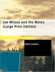 Cover of: Joe Wilson and His Mates (Large Print Edition) | Henry Lawson