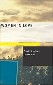 Cover of: Women in Love | D. H. Lawrence