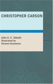 Cover of: Christopher Carson