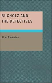 Cover of: Bucholz and the Detectives
