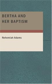 Cover of: Bertha and Her Baptism
