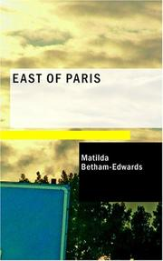 Cover of: East of Paris