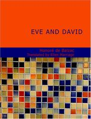 Cover of: Eve and David (Large Print Edition): (Lost Illusions Part III) |