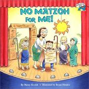 Cover of: No Matzoh for Me!
