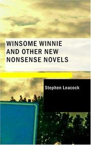Cover of: Winsome Winnie and Other New Nonsense Novels