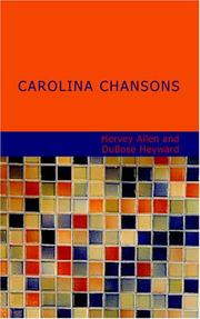 Cover of: Carolina Chansons: Legends of the Low Country