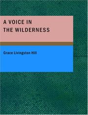 Cover of: A voice in the wilderness