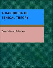 Cover of: A Handbook of Ethical Theory
