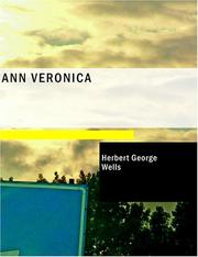 Cover of: Ann Veronica (Large Print Edition) | H. G. Wells