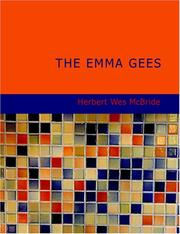 Cover of: The Emma Gees (Large Print Edition) | Herbert Wes McBride