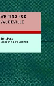 Writing for Vaudeville by Brett Page