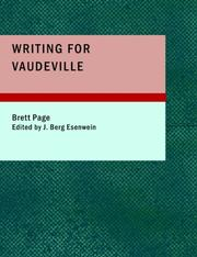 Cover of: Writing for Vaudeville (Large Print Edition) | Brett Page