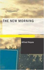 Cover of: The New Morning | Alfred Noyes
