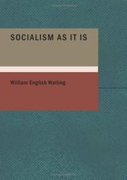 Cover of: Socialism As It Is