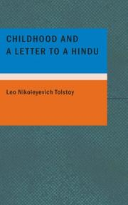 Cover of: Childhood and a Letter to a Hindu