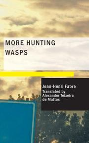 Cover of: More Hunting Wasps