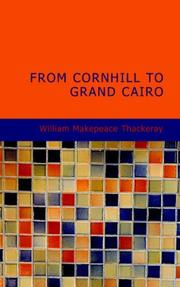 Cover of: From Cornhill to Grand Cairo