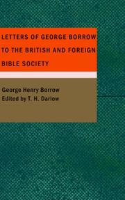 Cover of: Letters of George Borrow to the British and Foreign Bible Society