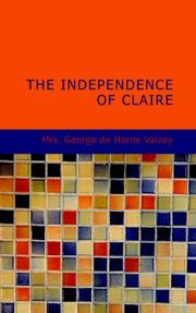 Cover of: The Independence of Claire