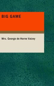 Cover of: Big Game
