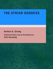 Cover of: The Syrian Goddess
