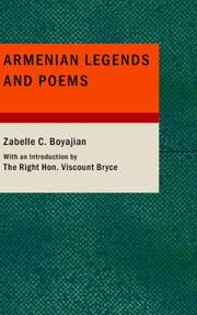 Cover of: Armenian Legends and Poems | Zabelle C. Boyajian