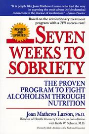 Cover of: Seven Weeks to Sobriety by Joan Mathews Larsen