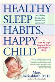 Cover of: Healthy sleep habits, happy child | Marc Weissbluth