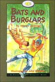 Cover of: Bats and Burglars (First Flight Books Level Four)