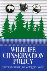Cover of: Wildlife Conservation Policy