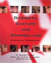 Cover of: Diversity, Culture and Counselling |