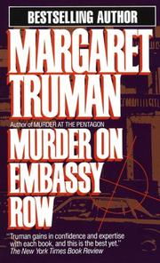 Cover of: Murder on Embassy Row (Capital Crime Mysteries)