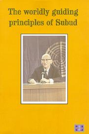 The Worldly Guiding Principles of Subud by Tomomi Hattori