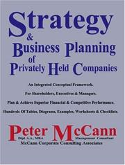 Cover of: Strategy & Business Planning of Privately Held Companies | Peter McCann