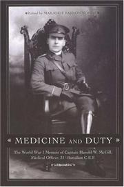 Cover of: Medicine and Duty | Marjorie Barron Norris