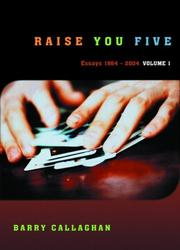 Cover of: Raise You Five: Essays and Encounters 1964-2004