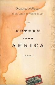 Cover of: Return from Africa