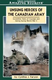 Cover of: Unsung Heroes of the Canadian Army
